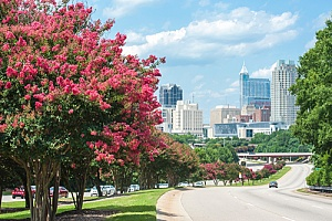Raleigh, North Carolina where Raleigh Gynecology & Wellness is located