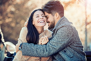 happy young couple after management of sexual dysfunction