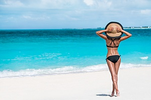 woman after SculpSure treatment