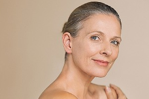 Portrait of a woman. For women ages 50-69, the benefits of mammography easily outweigh the risks