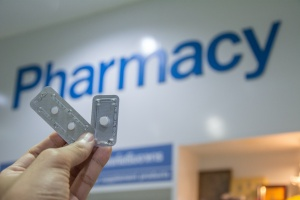 ella emergency contraception being bought at a pharmacy