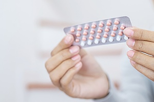 a collection of pills that are used for hormonal contraception